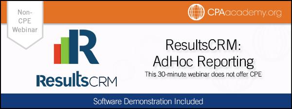 Adhoc resultscrm
