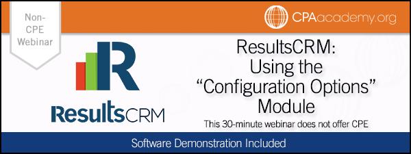 Configure resultscrm